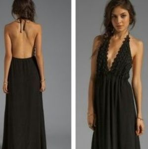For Love and Lemons Camiliia Maxi Halter Dress